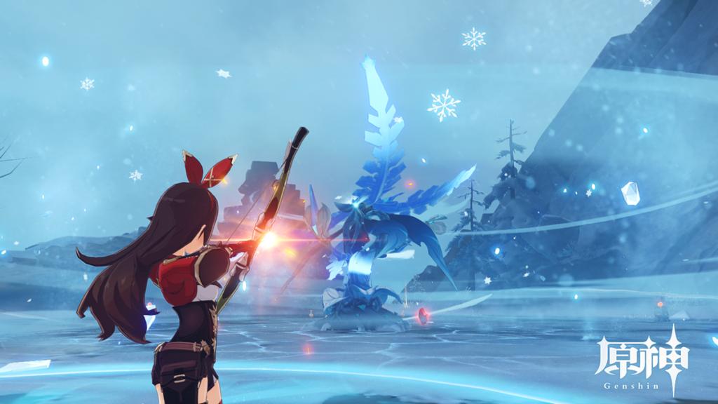 急凍樹のコアを狙うアンバー